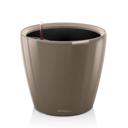 Lechuza Кашпо Классико 28 LS, серо-коричневое, с системой полива и съемным горшком 16045