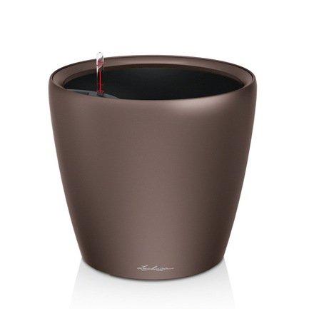 Lechuza Кашпо Классико 50 LS, кофе, с системой полива и съемным горшком 16101