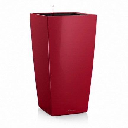 Lechuza Кашпо Кубико 22, красное, с системой полива чаша горошек 2 л бел син 1150426