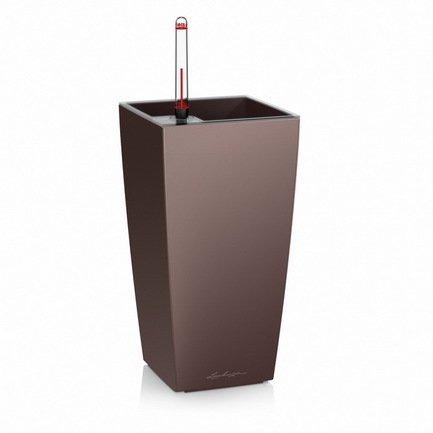 где купить Lechuza Кашпо Макси-Куби, 14х14х26 см, кофе 18057 Lechuza по лучшей цене