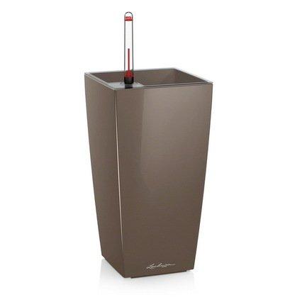 где купить Lechuza Кашпо Макси-Куби, 14х14х26 см, серо-коричневое по лучшей цене