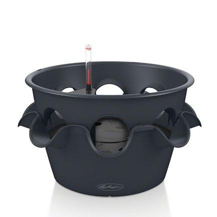 кашпо lechuza classico с системой автополива цвет черный диаметр 50 см Lechuza Кашпо Каскада Колор, с системой полива