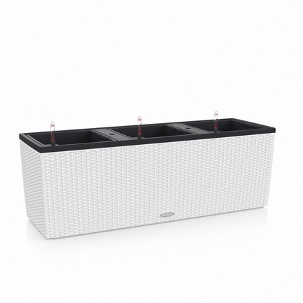 Кашпо Трио 30 Коттедж, белое, с системой полива 15000 Lechuza кашпо с системой автополива santino лн 9 тер