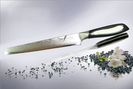 Tojiro Нож для нарезки хлеба Flash, 20 см нож для нарезки мяса marvel santoku series цвет серый длина лезвия 20 5 см 87313