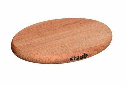 купить Staub Подставка под горячее деревянная, магнитная, овальная, 29х20 см 1190713 Staub по цене 3050 рублей