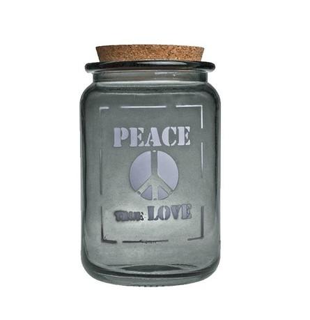 Vidrios San Miguel Банка Peace true love (1.4 л), 12х20 см, серая 5267_1F308