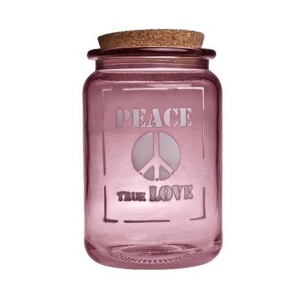 Vidrios San Miguel Банка Peace true love (1.4 л), 12х20 см, розовая san miguel ваза isabella 25 см