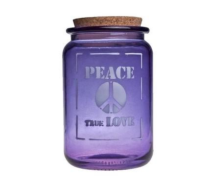 Vidrios San Miguel Банка Peace true love (1.4 л), 12х20 см, синяя san miguel ваза isabella 25 см