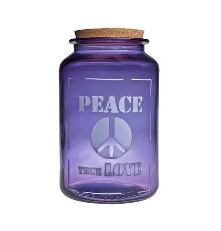 Vidrios San Miguel Банка для сыпучих Peace true love (3.1 л), 15х25 см, фиолетовая 5265_1F310 Vidrios San Miguel насос karcher bp 7 home