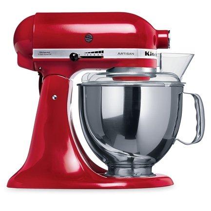KitchenAid Миксер планетарный, дежа (4.83 л), 3 насадки, красный