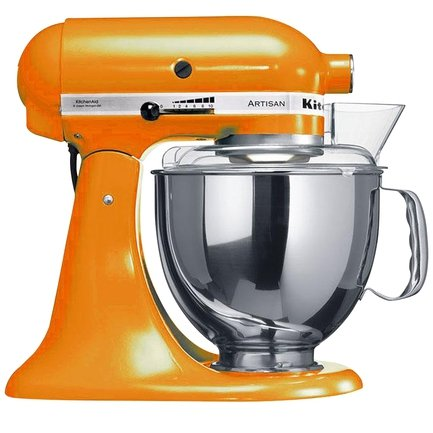 KitchenAid Миксер планетарный, дежа 4.83 л, 3 насадки,5KSM150PSETG, мандарин