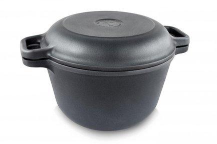 Фото - Кказан (7 л), с крышкой-сковородой 9870 НМП казан 3 л с крышкой сковородой 6830 нмп