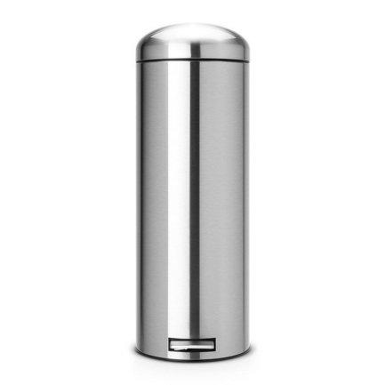 Brabantia Мусорный бак Retro Slim MotionControl (20 л), 71х25.2х34 см, матовый стальной, с защитой от отпечатков пальцев 479243