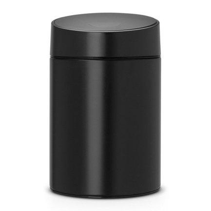 Brabantia Ведро для мусора с крышкой Slide (5 л), 32.5х20.5х22 см, черное 483189 Brabantia ведро для мусора brabantia slide 483141 5 л