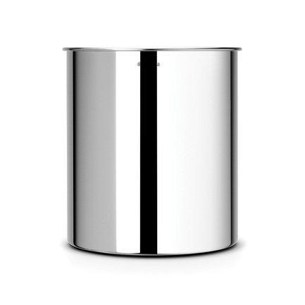 Brabantia Корзина для бумаг (7 л), 21.3х23.5 см, стальная полированная brabantia мусорный бак flipbin 30 л белый