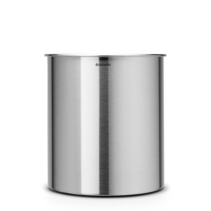 Корзина для бумаг (7 л), 21.3х23.5 см, матовая стальная от Superposuda