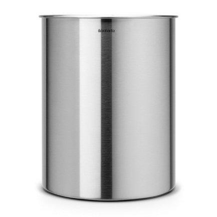 Корзина для бумаг (15 л), 26.2х32 см, матовая стальная от Superposuda