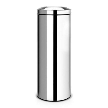 Несгораемая корзина для бумаг (20 л), 25.1х67.5 см, стальная полированная от Superposuda