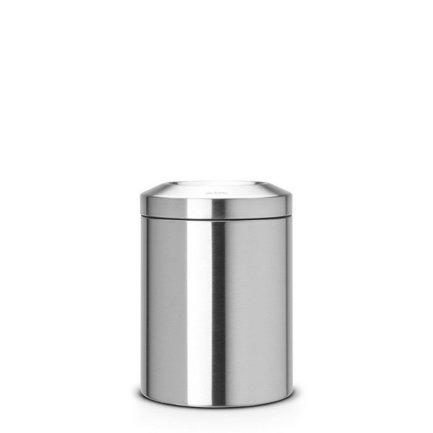 Несгораемая корзина для бумаг (7 л), 20.7х29 см, матовая стальная 378942 Brabantia