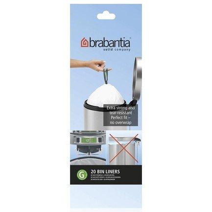 Brabantia Пакет пластиковый, размер G (23/30 л), белый, 20 шт. 246265 Brabantia пакет пластиковый 40 50 л 30 шт 1056914