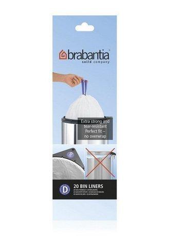 Brabantia Пакет пластиковый, размер D (15 л), белый, 20 шт. 246760