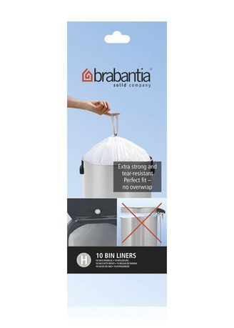 Brabantia Пакет пластиковый, размер H (40/50 л), белый, 10 шт. 246784 Brabantia пакет пластиковый 20 л 40 шт 1057005