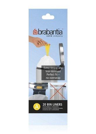Brabantia Пакет пластиковый, размер A (3 л), белый, 20 шт. 311727