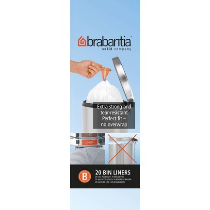 Brabantia Пакет пластиковый, размер B (5 л), белый, 20 шт. 311741