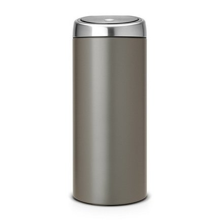 Brabantia Мусорный бак TOUCH BIN (30 л), 29.5х72.5 см, платиновый