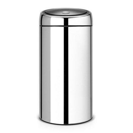Brabantia Мусорный бак TOUCH BIN (45 л), 37х75.5 см, стальной полированный 390821 Brabantia brabantia мусорный бак touch bin 30 л