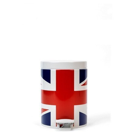 Brabantia Ведро для мусора с педалью (5 л), 20.5х28.8х20.5х28см, Union Jack somic g929 sorround sound noise isolating powerful bass hifi music computer gaming 3 5mm headset headphones for cs cf dota lol