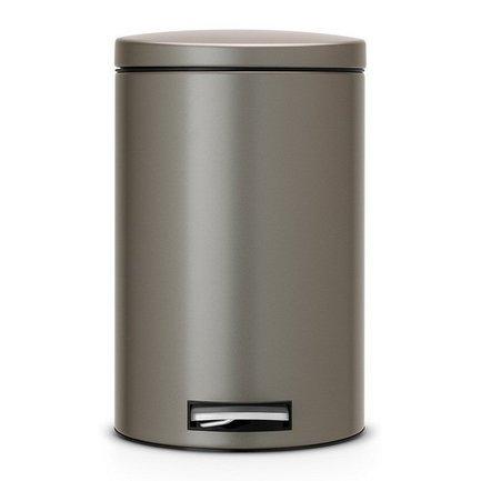 Brabantia Ведро для мусора с педалью (12 л) МС, 40х35х25 см, платиновое 478086