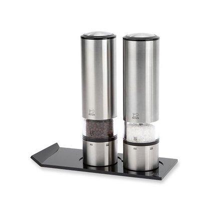 Peugeot Набор мельниц для соли и перца электрических, на подставке 2/27162 Peugeot weber набор мельниц для соли и перца черные 17093 weber