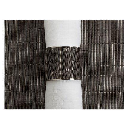 CHILEWICH Кольцо для салфеток Grey Flannel, 3.8x4.1см. 0801-BAMB-GRFL CHILEWICH