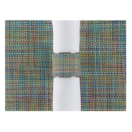 CHILEWICH Кольцо для салфеток Garden, 3.8x4.1 см, жаккардовое плетение 0801-MNBK-GARD CHILEWICH