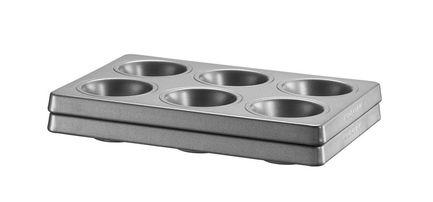 KitchenAid Набор форм для маффинов и капкейков, 2 шт., с антипригарным покрытием форма для выпекания керамика kitchenaid набор kblr02mbac 2шт по 0 45л