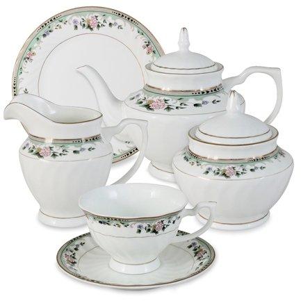 Emerald Чайный сервиз Джулия на 6 персон, 21 пр. E-112-D55_21-AL