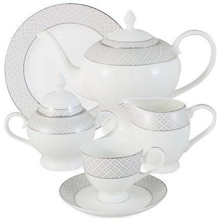 Emerald Чайный сервиз Элеганс на 6 персон, 21 пр. E5-09-17_21-AL
