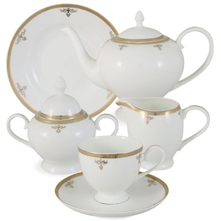 Emerald Чайный сервиз Ампир на 6 персон, 21 пр. E5-09-24_21-AL