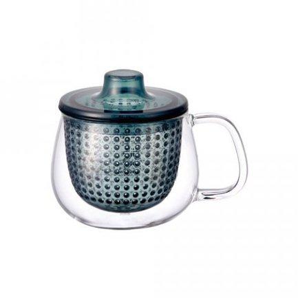 цена Kinto Кружка-чайник Unimug (0.35 л), 7.8х9 см, темно-синий 22916 Kinto онлайн в 2017 году