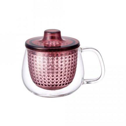 Kinto Кружка-чайник Unimug (0.35 л), 7.8х9 см, розовый