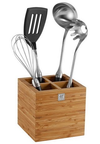 Zwilling J.A. Henckels Набор кухонных принадлежностей в подставке TWIN Pure black, 4 пр.