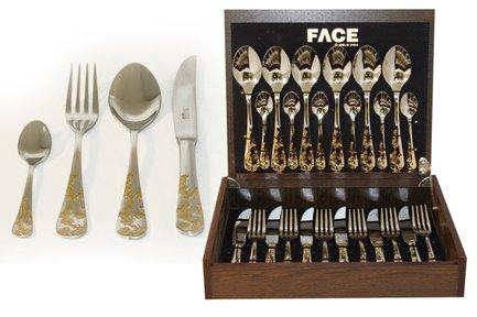 Face Набор столовых приборов на 6 персон Ankara, 24 пр. F-ANG_24-AL Face face набор столовых приборов 75 пр sense в деревянной коробке