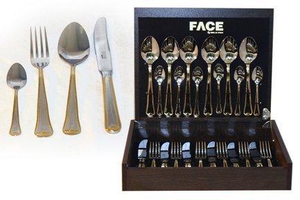 Face Набор столовых приборов на 6 персон Falperra Gold, 24 пр.