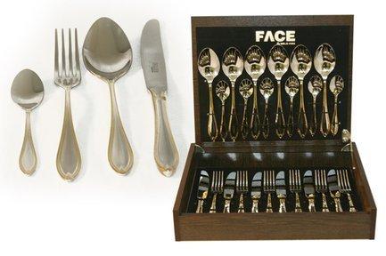 Face Набор столовых приборов на 6 персон Geneva, 24 пр., в коробке F-GG_24-AL Face face набор столовых приборов 75 пр sense в деревянной коробке
