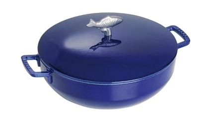 Staub Сотейник Соты с чугунной крышкой, 28 см (4.65 л), темно-синий 1112991 Staub staub сотейник со стеклянной крышкой 24 см вишневый 12722406 staub