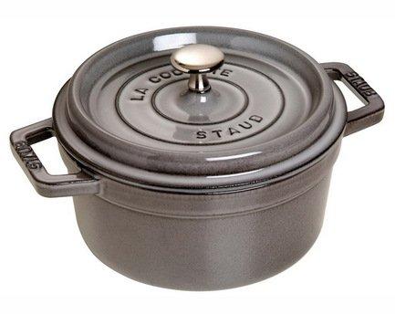 Staub Кокот круглый, 20 см (2.2 л), серый графит 1102018