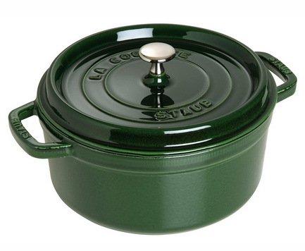Staub Кокот круглый, 22 см (2.6 л), зеленый базилик 1102285