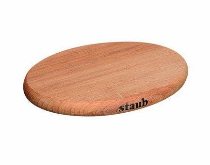 купить Staub Подставка под горячее деревянная, магнитная, овальная, 21х15 см 1190712 Staub по цене 2550 рублей