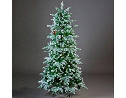 Triumph Tree Ель Нормандия, утонченная, 155 см, заснеженная triumph tree нормандия литая хвоя 60 см зеленый 73688